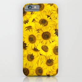 Lots of sunflowers iPhone Case