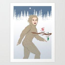 Bigfoot Daemon Art Print