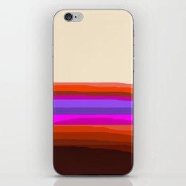 Orange, Purple, and Cream Abstract iPhone Skin