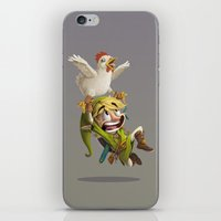 zelda iPhone & iPod Skins featuring Zelda by Dave Armstrong