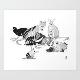 Tasmania Art Print