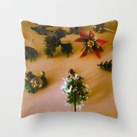 santa Throw Pillows featuring santa by gasponce