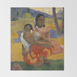 Paul Gauguin - When Will You Marry? Throw Blanket