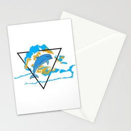 Dolphin in water element Stationery Cards