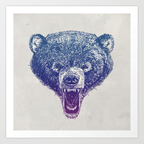 Bear me roar Art Print