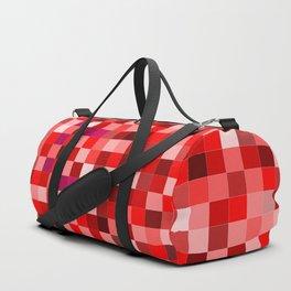 Red Pixel Duffle Bag