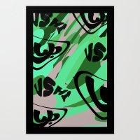 red camo Art Print