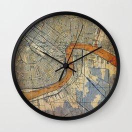06-New Orleans Louisiana 1932 Wall Clock
