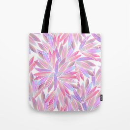 Trendy girly pink lavender coral watercolor floral Tote Bag