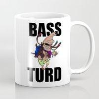 meme Mugs featuring BASS TURD MEME GRAPHIC by GENSO