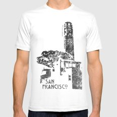 Coit Tower Mens Fitted Tee White MEDIUM
