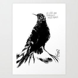 Black one Art Print
