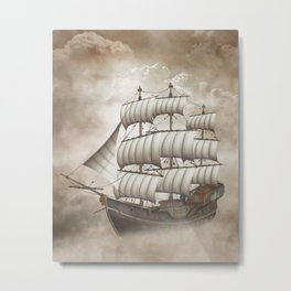 Cloud Ship Metal Print