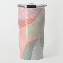 Shapes and Layers no.16 - Watercolor and pastel abstract painting Travel Mug
