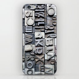 Letterpress iPhone Skin
