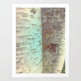Autumn Birch Tree Abstract Art Print