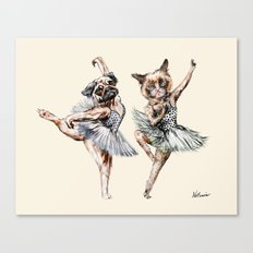 Hipster Ballerinas - Dog Cat Dancers Canvas Print