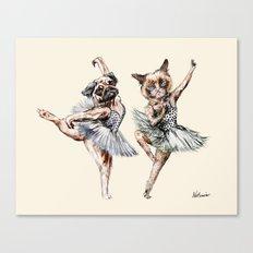 Hipster Ballerinas - Dog Cat Dancers Canvas Print