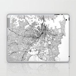 Sydney White Map Laptop & iPad Skin