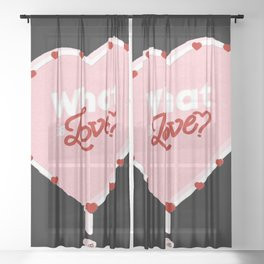Twice what is love Sheer Curtain