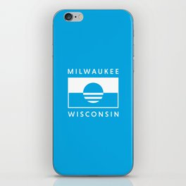 Milwaukee Wisconsin - Cyan - People's Flag of Milwaukee iPhone Skin