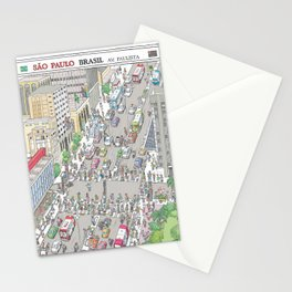 Avenida Paulista #1, Sao Paulo, Brazil Stationery Cards