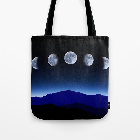 Moon Phases #blue Tote Bag