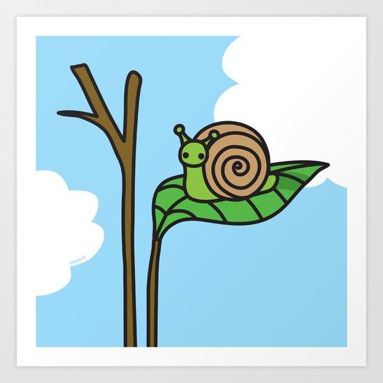 Sweet Snail Art Print