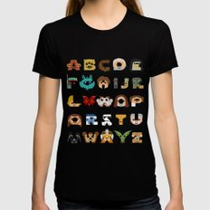 ABC3PO SMALL Black Womens Fitted Tee