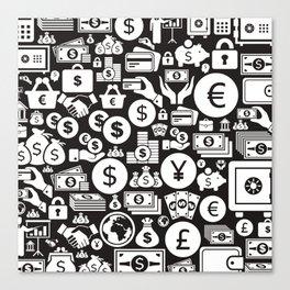 Money a background3 Canvas Print
