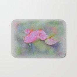 Pink Anthurium Bath Mat