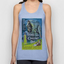 Vintage Classic Movie Posters, The Thing That Couldn't Die Unisex Tank Top