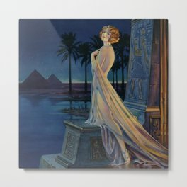 Melody of Ancient Egypt Art Deco romantic female figure by the River Nile painting by Henry Clive Metal Print