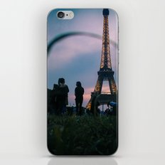 The Eiffel Tower during a summer evening. iPhone & iPod Skin