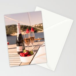 Pink dreams- Nautical photography- Sailing and Champagne Stationery Cards