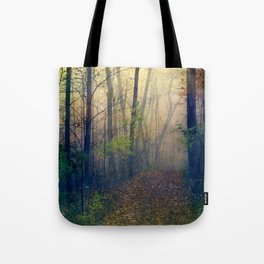 Wandering in a Foggy Woodland Tote Bag
