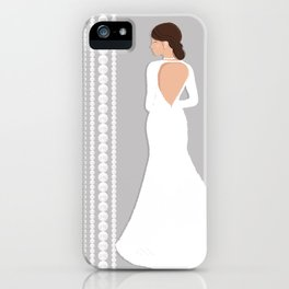 Bridal Pearls Grey & White iPhone Case
