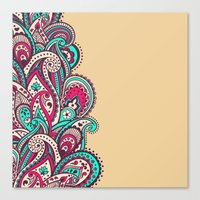 paisley Canvas Prints featuring Paisley by Cultivate Bohemia