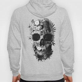 Garden Skull Dark B&W Hoody