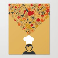 cook Canvas Prints featuring Cook by aleksander1