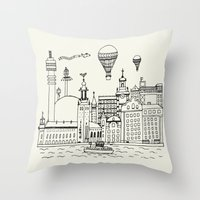 stockholm Throw Pillows featuring Stockholm by Adam Lindfors
