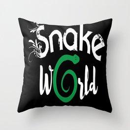 Beat Snake Species Snake Accessories Throw Pillow