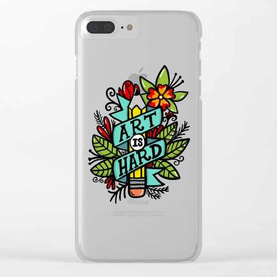 art is hard Clear iPhone Case