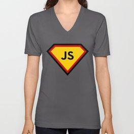 Java script - js programming language Unisex V-Neck