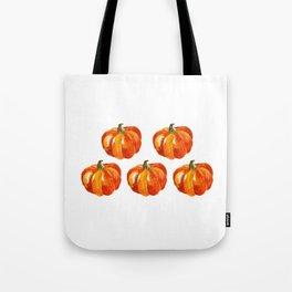 Watercolor Pumpkins Tote Bag