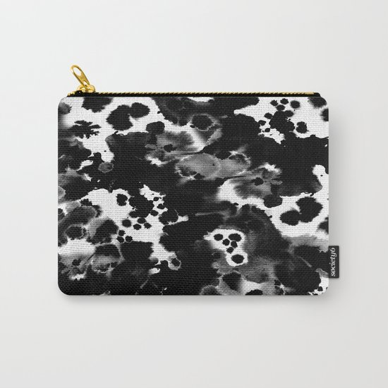 Peti - black and white minimal marble abstract painting brushstrokes modern urban hipster bklyn art Carry-All Pouch