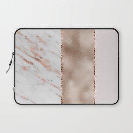 Rose metallic striping - marble and blush Laptop Sleeve