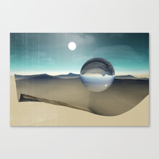 desert sphere void Canvas Print
