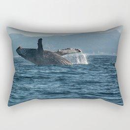 Alaskan Whale Photography Print Rectangular Pillow