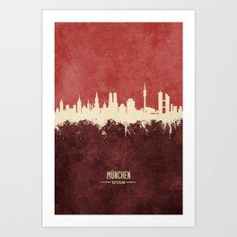 Munich Germany Skyline Art Print